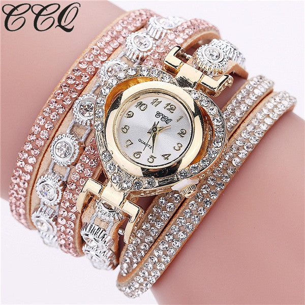 Luxury Rhinestone Bracelet Casual Women Wrist Watch - FKF Fashion
