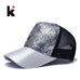 Casual Hats For Women Sequins Flashes 5 Panel Trucker Hip Hop Cap - FKF Fashion