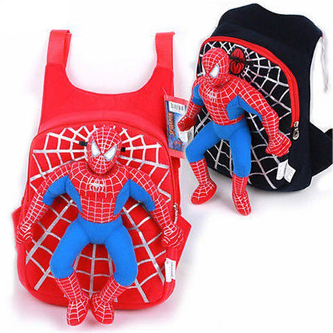 Spiderman Stuffed Toy Backpack Schoolbag