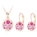 Austrian Crystal Rose Gold Color Round Style Pendant/Earrings Sets - FKF Fashion