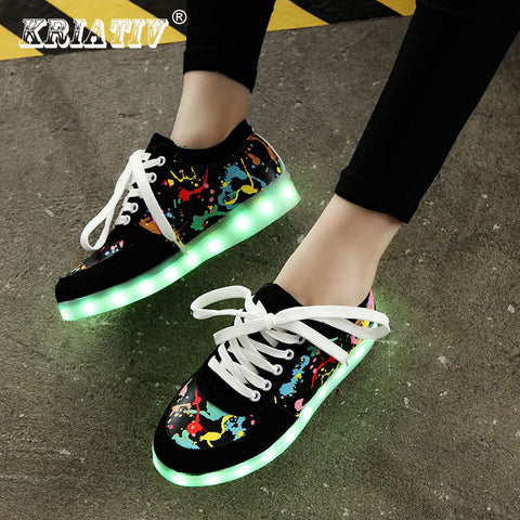 Usb Charging Kids Glowing LED Sneakers - FKF Fashion