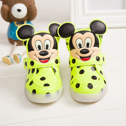 Popular Unisex Cartoon Led Kids Sneaker Shoes