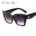 ROYAL GIRL Oversize Vintage Women Acetate Chic Sun Glasses