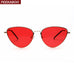 Peekaboo red cat eye sunglasses for women uv