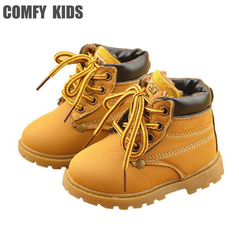 Comfy Leather Snow Boots For Girls & Boys