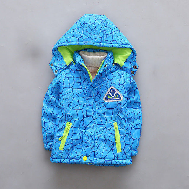 Boys Spiderman Jacket Velvet Autumn For Girls Sport Green Boys Outerwear