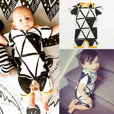 Newborn Baby Girls Boys Organic Romper Jumpsuit Playsuit Outfits Baby Romper 0-24M