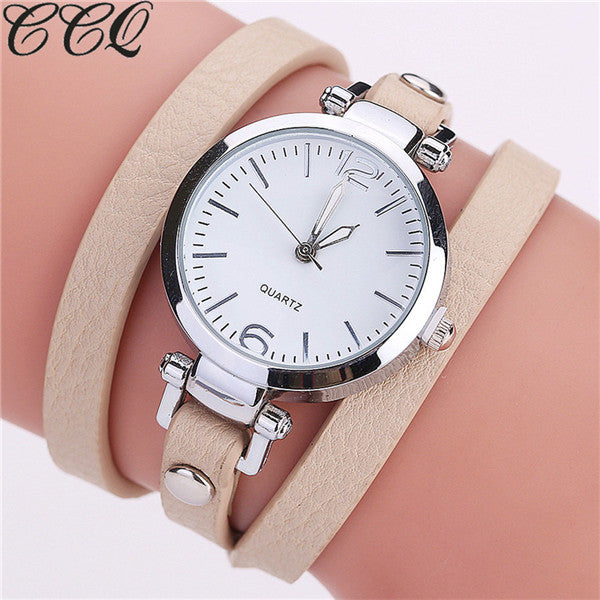 Hot Luxury Leather Bracelet Watch