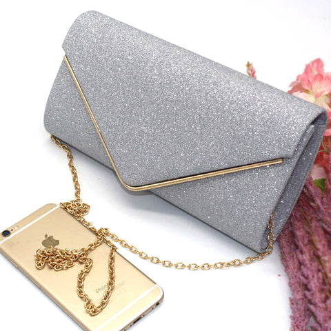 Glittery Wallet Style Wedding Purse