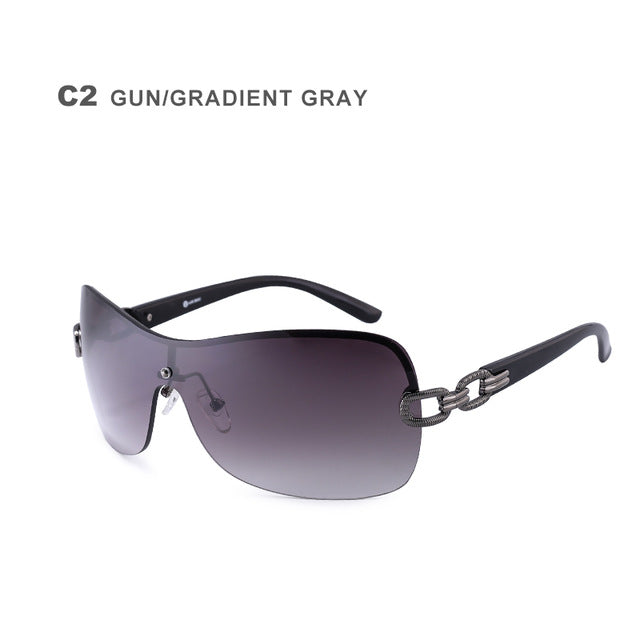 Luxury Rimless  With Chain Logo Glasses Alloy Gun Sun Glasses Ladies Oculos Feminino AB703