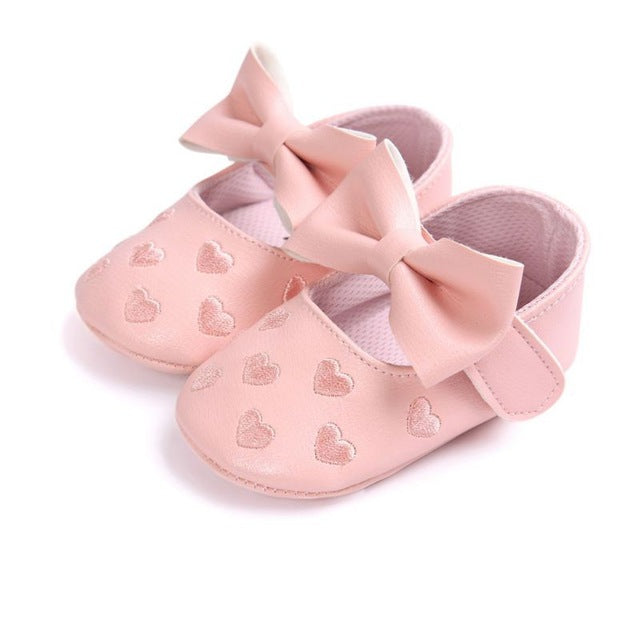 Big Bow Soft Bottom Non-slip Prewalkers Newborn Shoes - FKF Fashion