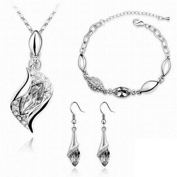 Austrian crystal drop Gold Chain jewelry sets - FKF Fashion