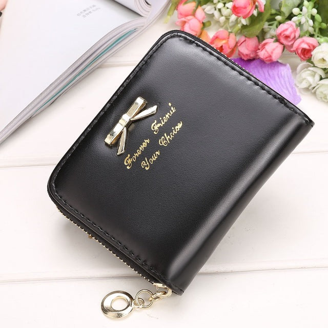 2017 High quality Branded Bowknot Small Wallet Purse - FKF Fashion