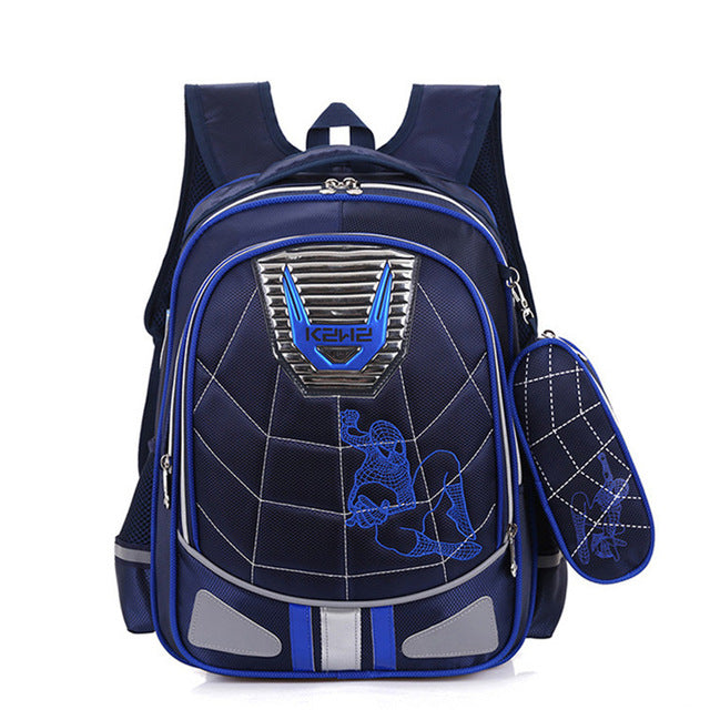 Spiderman Orthopedic Waterproof Children School Backpack