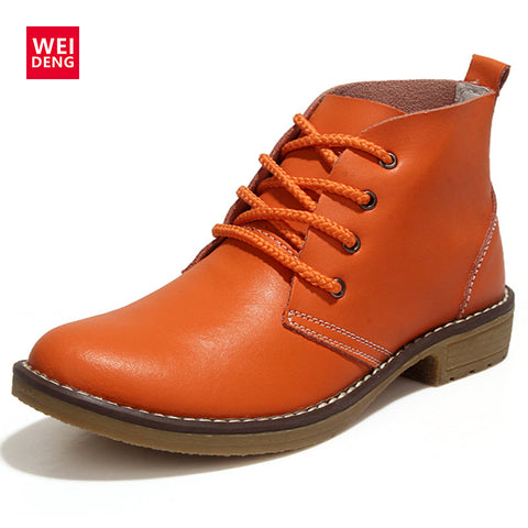 Outdoor Winte Lace up Genuine Leather Classic Military Waterproof Shoes