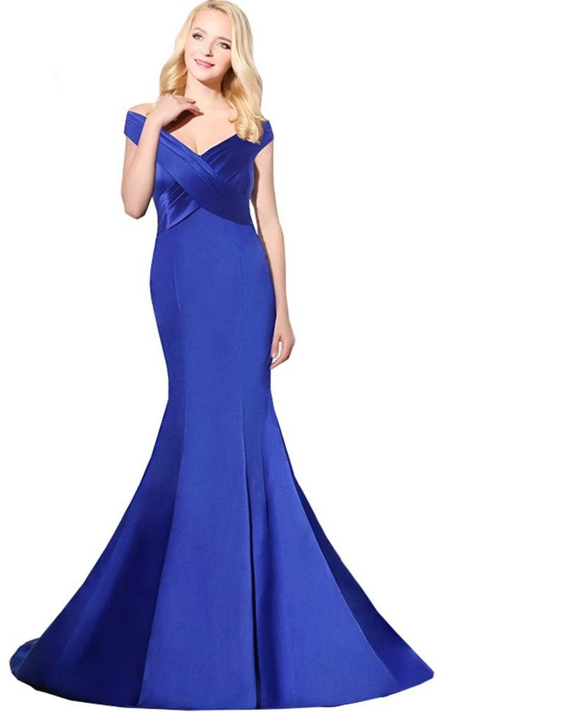 Royal Blue Long Evening Gown