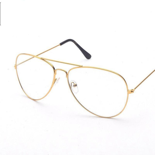 Aviation Gold Frame Female Classic Sung Glasses Optical Pilot Style - FKF Fashion
