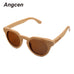 Packages mailed bamboo, wood retro fashion polarized light green natural sunglasses by hand ZA05