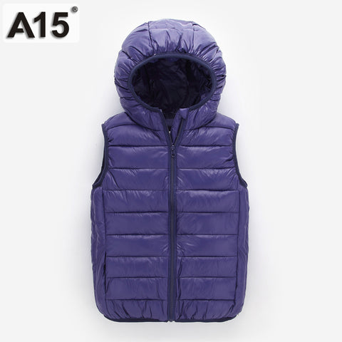 Children Girls Vest Hooded Jacket Spring Waistcoats - FKF Fashion