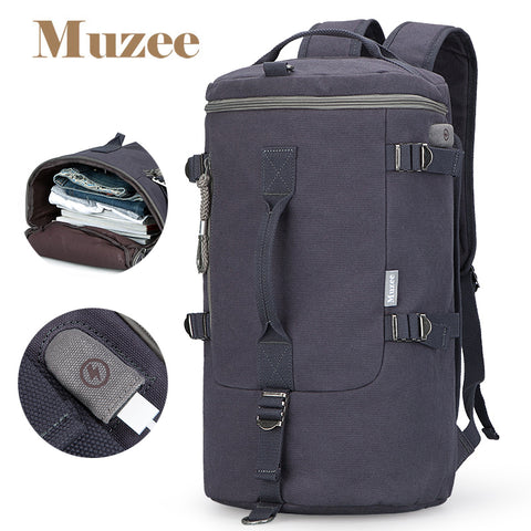 High Capacity Cylinder Multifunction Rusksack Fashion Backpack