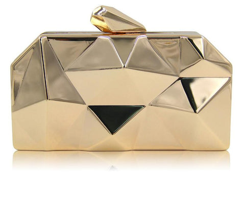 Metal Top Quality Hexagon Mini Party Clutch