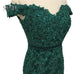 Teal Green Off The Shoulder Prom Evening DressesMermaid Style Beading Tulle Formal Evening Gowns Party Dress