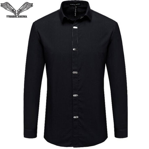 Men's New Arrival British Style Casual Long Sleeve Shirt