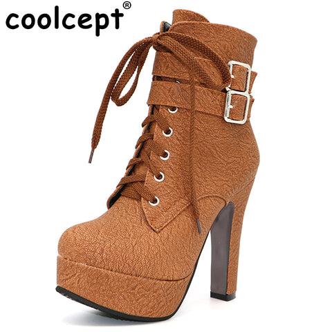 Branded High Heels Ankle Boots - FKF Fashion