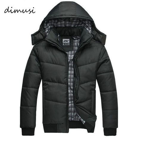 Men Winter Jacket Big Size up to 4XL Slim Cotton With Hooded Parkas - FKF Fashion