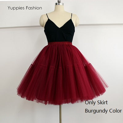 5 Layers 55cm Tulle Skirt - FKF Fashion