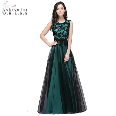 Real Photo Lace Appliques elegant Long Evening Dresses
