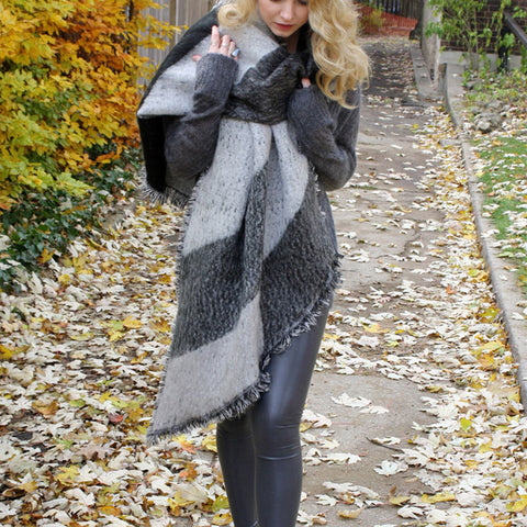 Women Thick Warm Wool  Cashmere Scarves