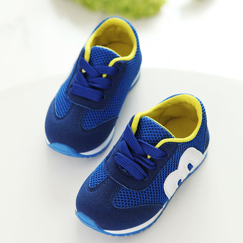 M alphabet mesh casual running kids sports shoes