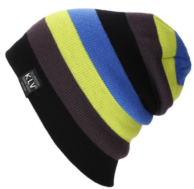 Brand Bonnet Knitted Winter Caps Outdoor Ski Sports rainbow Beanie - FKF Fashion