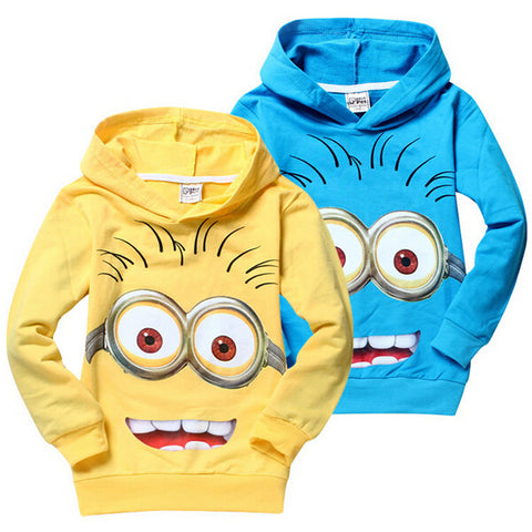 cartoon minion nova shirts, child Spring hoodies Tops & Tee - FKF Fashion