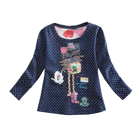 Girls t-shirts Long Sleeve Cotton