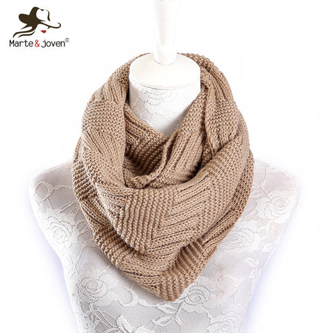 Cashmere Ring Scarf for Women Soft Acrylic Winter Infinity Scarves - FKF Fashion