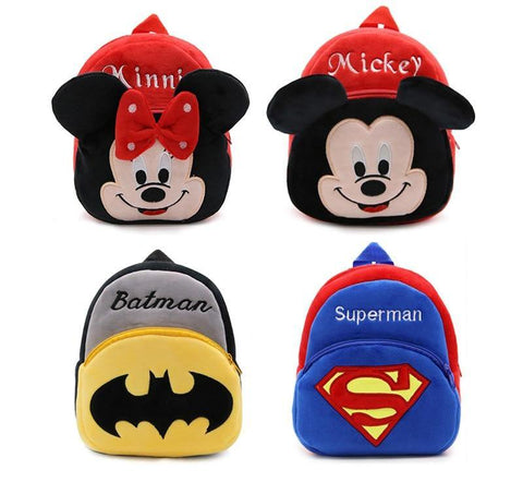 Children Plush Cartoon Characters School Bags - FKF Fashion