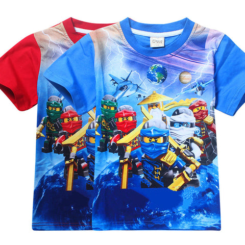 Children's Cartoon Cotton T-shirt - FKF Fashion