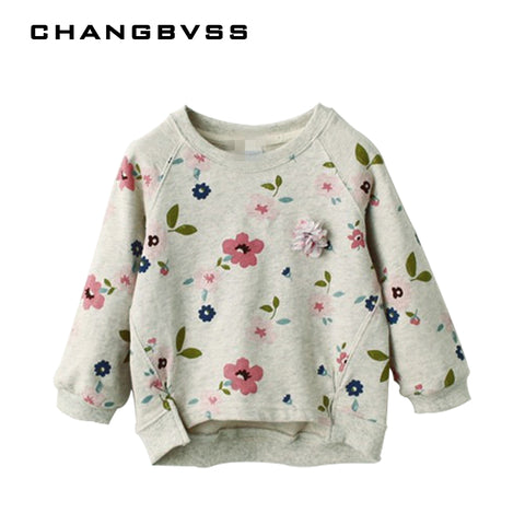 Girls Sweater Children's Sweatshirts Casual Kids Long Sleeve T-shirt