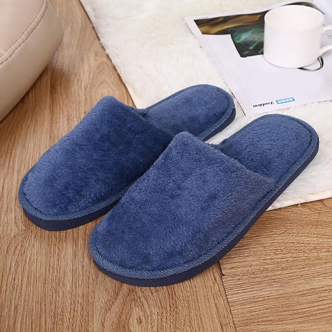 Winter Warm Home Slippers Men Fashion Couple Men Plush Warm Slippers Indoor Soft Couple indoor Slippers - FKF Fashion
