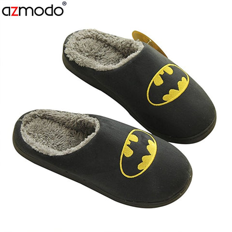 Superhero slippers schinelo masculino slippers men Lovers men funny adult slipper man winter shoes fur funny slippers