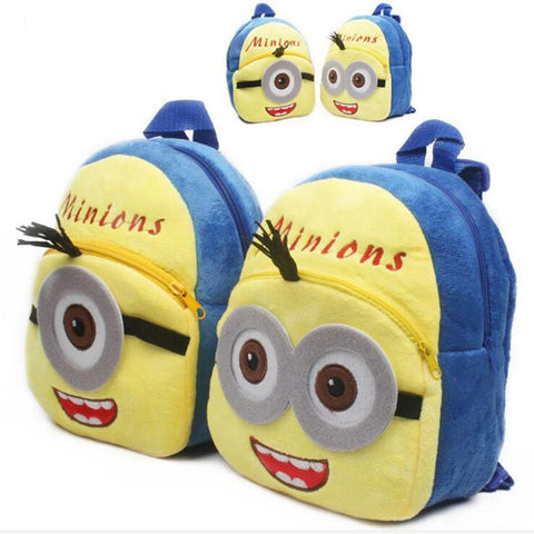 Cute Minions Children Mini Plush School Bag