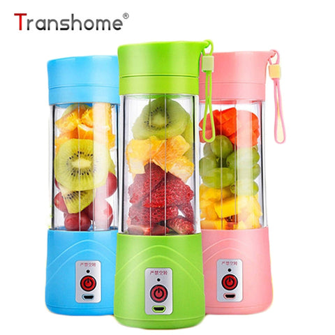 USB Rechargeable Juicer Water Bottle 400ml Mini Portable Electric Lemon Fruit Juicer Milkshake Smoothie Maker