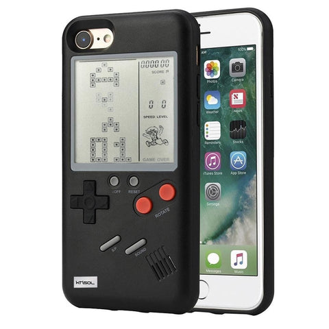 GB Gameboy Tetris Phone Cases for iPhone 6 6S 7 8 Plus Soft PC Silicone Phone Case Game Console Cover For Iphone X