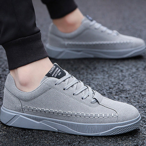 Men's Vulcanize Shoes lace-up solid shallow fashion male sneakers cotton fabric comfortable man shoes 2019 sapatos - FKF Fashion