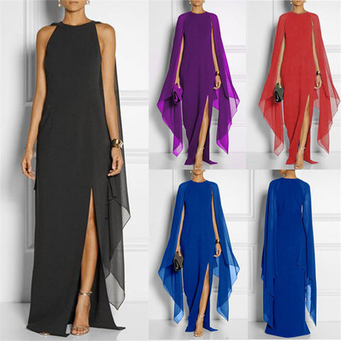 Trendy Bat wing Sleeve Long Maxi Dress - FKF Fashion