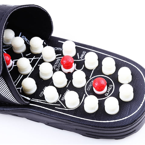 Acupoint Massage Slippers Sandal For Men Feet Chinese Acupressure Therapy Medical Rotating Foot Massager Shoes Unisex - FKF Fashion