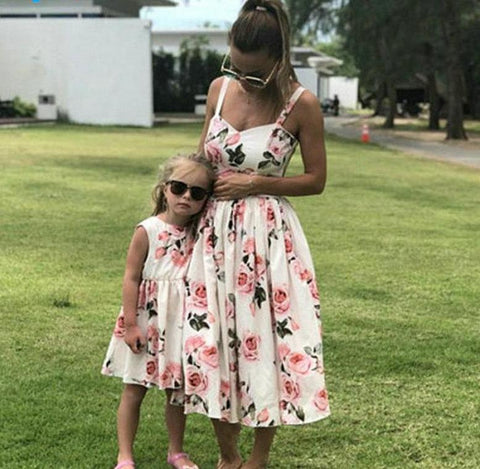 Floral Dress For Mommy And Daughter
