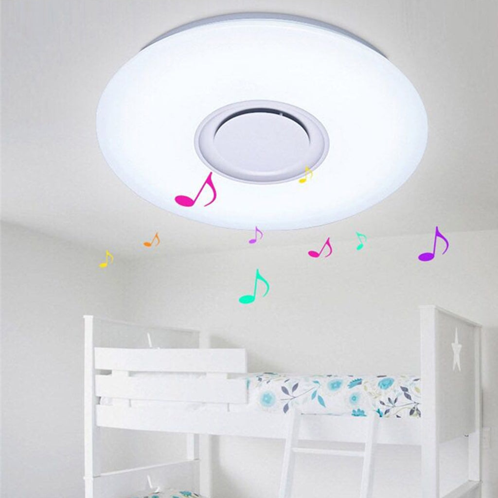 Bluetooth Ceiling Speaker Smart APP Control Loundspeaker Player with RGB Dimmable LED Ceiling Lights Panel Lamp For Kids Bedroom - FKF Fashion